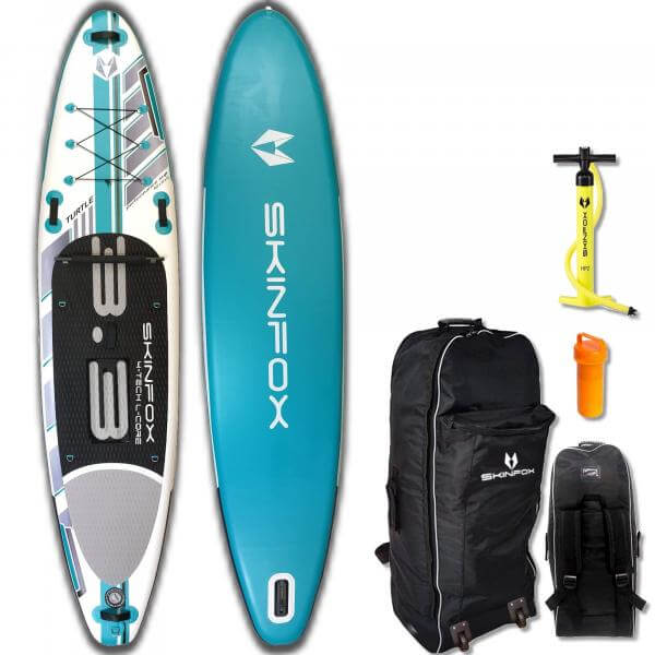 SKINFOX TURTLE CARBON-SET (335x80x15) 4-TECH L-CORE SUP Paddelboard tuerkis
