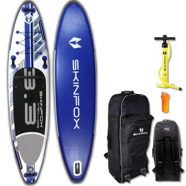 SKINFOX SEAHORSE ALU-SET (335x78x15) 4-TECH L-CORE SUP Paddelboard blau