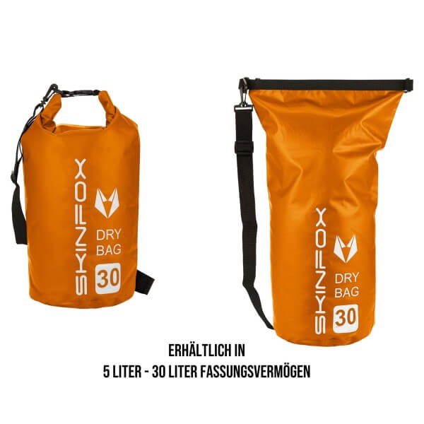 SKINFOX DryBag wasserdichte SUP Tasche in ORANGE
